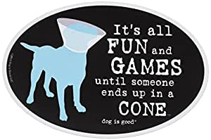 Dog is Good Oval 汽车磁铁 - 送给爱狗人士的*礼物 It's All Fun and Games It's All Fun and Games