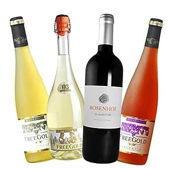 超值组合 西班牙原装进口 飞歌系列4瓶 圣罗兰 甜白 桃红 起泡 4个口味一次尝到