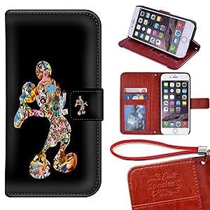 iPhone 6/6S 钱包式手机壳 [4.7 英寸],Onelee - Mickey Mouse 高级 PU 皮革保护套钱包翻盖支架保护套适用于 iPhone 6/6S 带卡槽4119519 Mickey Mouse iPhone 6/6S