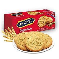 英国进口 麦维他(McVitie's)全麦粗粮酥性***饼干原味120克 2盒装