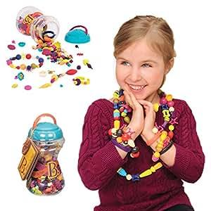 B.Toys 比乐 波普珠珠 创意DIY无绳串珠玩具 手工益智 项链手链 女孩 300粒装 无需线  婴幼儿童益智玩具 礼物 4岁+ BX1254Z