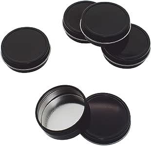 罐子 - 浅口螺旋盖 1/2oz,4oz,6oz,8oz 黑色 2 盎司