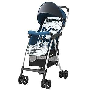 日本 Aprica 阿普丽佳 婴儿推车 魔捷轻风高景观推车(蓝色) 车重3.0kg(适合6~36个月,5点式安全带,坐垫快拆轻松洗,柔软悬浮吸震轮,大容量置物篮)