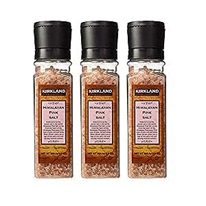 【原装进口】Kirkland 柯克兰 喜马拉雅特粗地中海粉海盐 带研磨器 369g 宝宝可食用盐 (3瓶价)