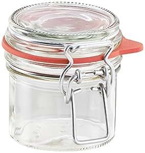 Leifheit 3190 玻璃罐,带夹紧固 透明 135 ml 3190