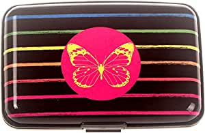 BOHONG *新铝 RFID 屏蔽信用卡套男女 - 时尚旅行钱包 - *佳保护银行借记,身份证,ATM,卡反扫描犯罪分子,7 个插槽 Cc031 小号 JKB044