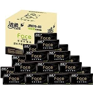 洁柔 Face天然无香130抽抽取式纸面巾(18包装)(亚马逊自营商品, 由供应商配送)