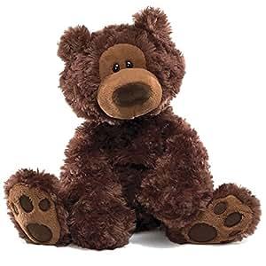 GUND Philbin深棕色泰迪熊充绒玩具-高12英寸(30cm)(亚马逊进口直采,美国品牌)