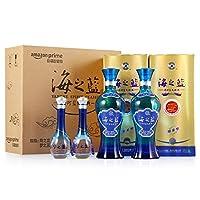 洋河蓝色经典 海梦组合尊享套装(海之蓝 42度 480ml*2瓶+梦之蓝M1 45度 100ml*2瓶+海之蓝礼品袋1支)