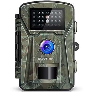 APEMAN Trail 游戏摄像机 12MP 1080P 打猎侦察机 2.4 英寸 LCD 带 940 纳米红外 LED IP66 喷雾防水,用于野生动物监控,家庭和农场*(灰色)