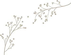 LittleLion Studio 061001010000000000000000 Blossom Branches 墙贴 浅棕色 061008081000000000000000