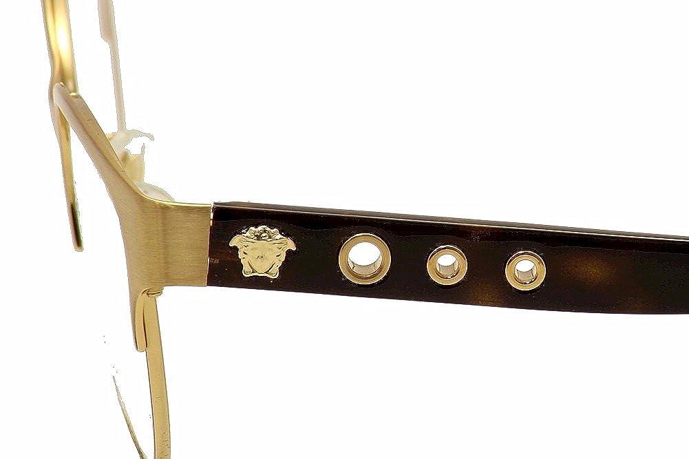 7f9c51110afe Versace Women s Eyeglasses VE1237 VE 1237 1352 Gold Full Rim Optical Frame  53mm-服饰箱包-亚马逊中国