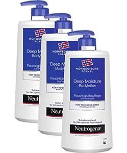 Neutrogena 挪威配方 Deep Moisture 润肤身体乳液 3 x 400ml