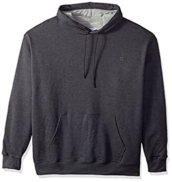 Champion Men's Powerblend Pullover Hoodie Granite Heather Small
