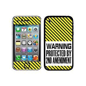 Graphics and More Protective Skin Sticker Case for iPhone 3G 3GS - Non-Retail Packaging - Warning Protected by 2nd Second Amendment
