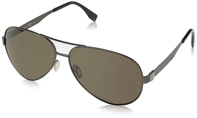 HUGO BOSS 男式0691 f s SP R80 64 太阳镜,SMtt 暗黄色 金色-服饰箱包 ... 3eb909dffa69