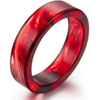 AUMRET 图案 血滴 女性戒指 浪漫 吸血鬼 血树脂戒指