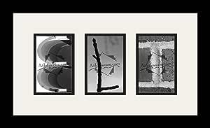 Art to Frames LetterArt-Eli-975-61/89-FRBW26079 字母艺术/字母摄影框 - ELI - 带 3-4x6 开口。 黑色缎面框架