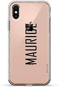 Luxendary Air 系列透明硅胶保护套 3D 印花设计气袋缓冲缓冲 iPhone Xs/X(5.8 英寸屏幕)LUX-IXAIR-NMMAURICE2 NAME: MAURICE, MODERN FONT STYLE 透明
