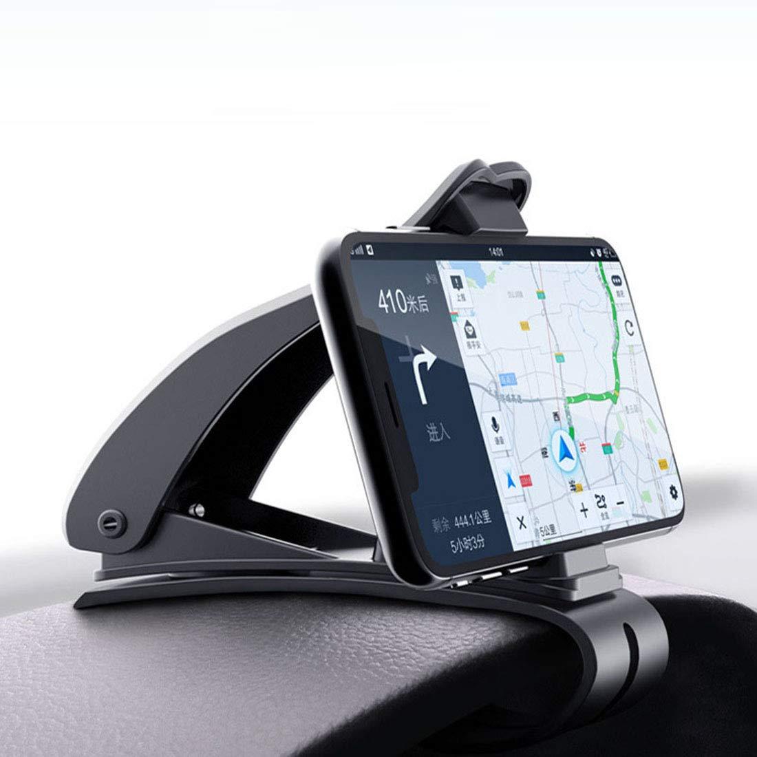 汽车通用仪表台直视360度旋转手机支架卡扣式多功能手机导航支架抬头