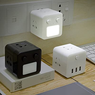 Miloxien 米珞玺恩 带夜灯无线魔方USB插座转换器 两个装