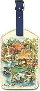 Pacifica Island Art 人造革行李标签 - Samoa Louis Macouillard 出品