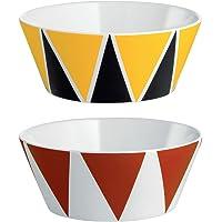 Alessi 骨瓷装饰小碗,2 件套,多色, 11 x 11 x 12 厘米