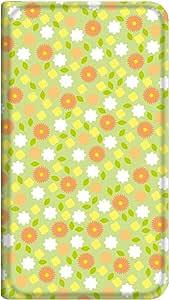 智能手机壳 手册式 对应全部机型 薄型印刷手册 cw-201top 套 手册 花朵图案 超薄 轻量 UV印刷 壳WN-PR130183-M Disney Mobile on SoftBank DM014SH 图案D