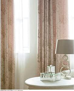 常规缝制窗帘 西娅 可洗 防火1片(单开用)1.5倍褶皱 尺寸宽度1800mm, 长度2000mm 象牙色 粉色 FD-51048-68