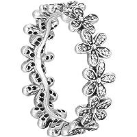 Pandora 潘多拉 女士戒指 闪亮雏菊 925 银 锆石 白色 - 190934CZ