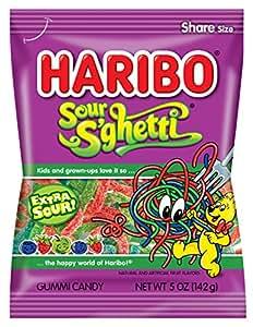 Haribo 哈瑞宝软糖,酸果味,每包约142克。