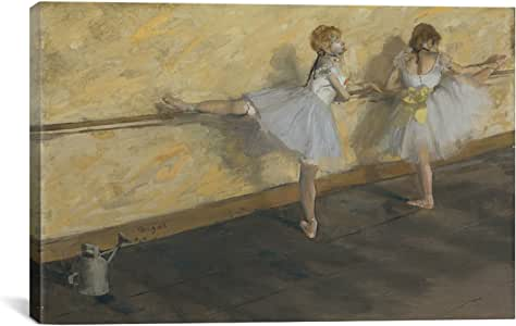 iCanvasART Dancers Practicing at The Bar by Edgar Degas Canvas Art Print, 26 by 18-Inch
