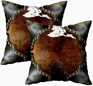 Capsceoll 2 件套橙灰色和蓝*装饰抱枕套 40.64 x 40.64 厘米,家居装饰枕套 拉链枕套 靠垫套 带文字 适用于书爱好者蠕虫沙发沙发 Multi 3 18X18