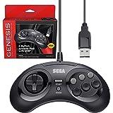 Retro-Bit 官方 Sega Genesis USB 控制器 8 键摇滚板,适用于 Sega Genesis Mi…