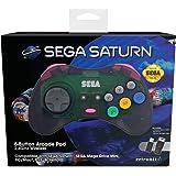 Retro-Bit Official SEGA Saturn 2.4Ghz Wireless Arcade Pad fo…