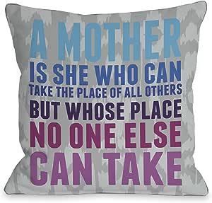 OBC Bentin 家居装饰 Mother's Place Ikat 抱枕 Mother's Place Ikat - Gray Blue Pink 18x18 Pillow 12151PL18