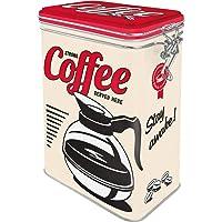 Nostalgic-Art 复古咖啡罐 - 美国 - 强力咖啡,金属罐带香气味,复古礼物,适合咖啡爱好者,1.3 升