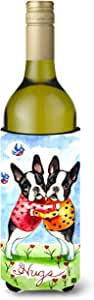 Hugs Boston Terrier Wine Bottle Beverage Insulator Beverage Insulator Hugger