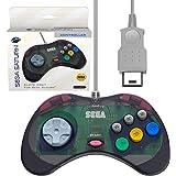 Retro-Bit 官方 Sega Saturn 控制器垫,适用于 Sega Saturn - 原装端口 石板灰