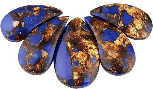 sunyik 泪珠海洋沉积物碧玉颗宝石宽松串珠套装用于珠宝制作,顶部 trilled
