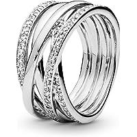 潘多拉女式戒指925标准纯银,带白色氧化锆190919 CZ