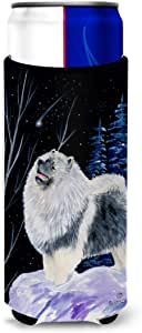 Starry Night Keeshond Michelob Ultra Koozies for slim cans SS8357MUK 多色 Slim