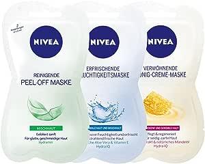 NIVEA 面具三件套 , ***响 , Peel - Off - , 蜂蜜 - 奶油色 - 和潮湿、面具 , multimas King 套装