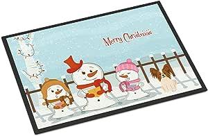 Caroline's Treasures BB2409JMAT 圣诞卡罗来斯顿红白色室内或室外垫子,60.96 x 91.44 厘米,多色