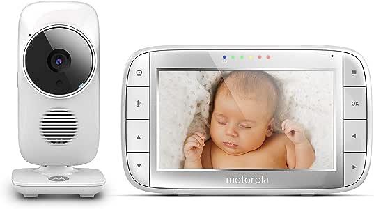 Motorola 摩托罗拉 MBP 48 婴儿视频监控电话 5.0 英寸显示屏 变焦摄像头 温度监控 2路音频