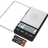 MAXUS BREW 多功能数码秤带计时器 1000 克 x 0.1 克 大亮 LCD 显示屏倒咖啡或滴水浓缩咖啡秤 小…