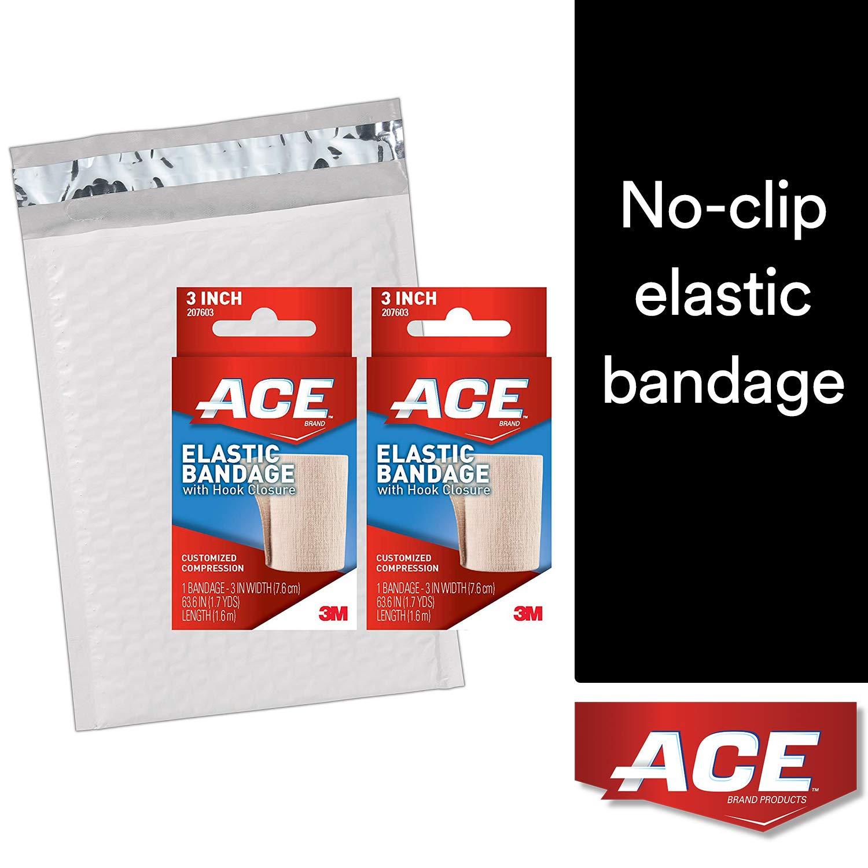 ace self-adhering 弹性绷带 hook closure 3 inch (2