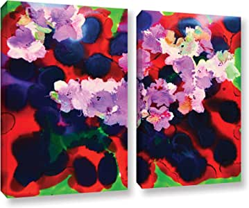 """ArtWall Henrietta Angel's Blooming 3, 2 Piece Gallery Wrapped Canvas Set, 18 x 24"""""""