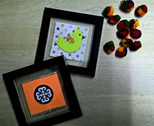 神奇蚂蚁 美丽手工杯垫/墙壁艺术 2 件套 Design #3 12x12x0.5 MAC0130