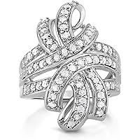 NATALIA DRAKE 1 克拉白色钻石蝴蝶结时尚戒指
